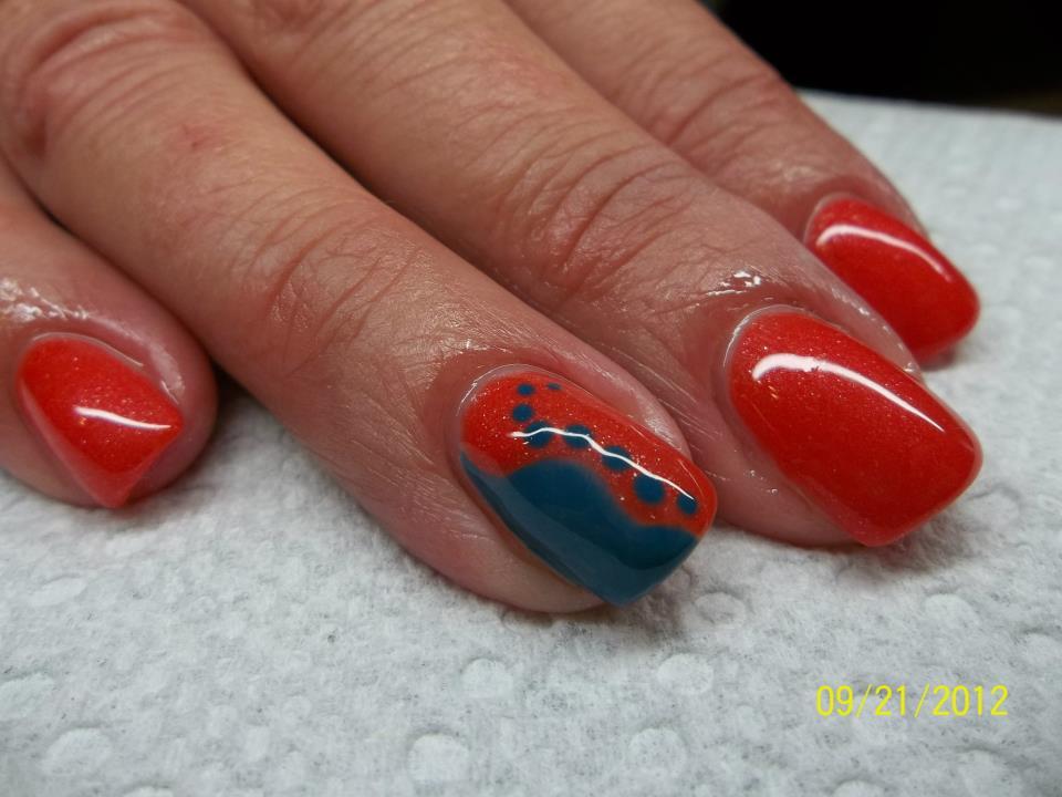 OPI Gel Color Nail Design